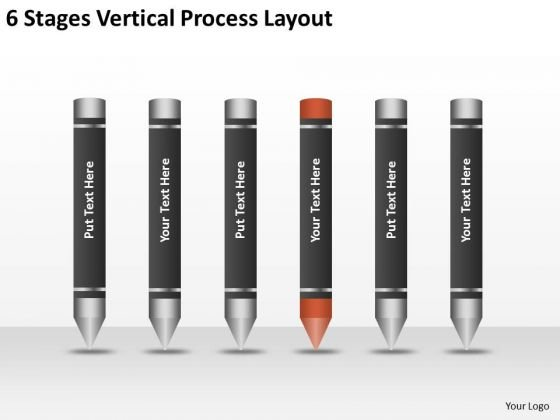 6 Stages Vertical Process Layout Ppt Template Business Plan PowerPoint Slides