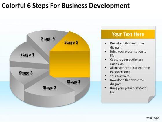 6 Steps For Business Development Ppt Building A Plan Template PowerPoint Templates