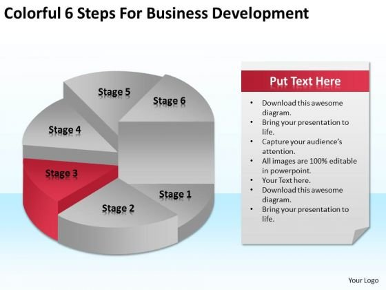 6 Steps For Business Development Ppt Non Profit Plan Template Free PowerPoint Templates