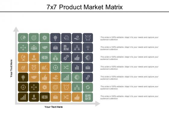 7X7 Product Market Matrix Ppt PowerPoint Presentation Inspiration Professional