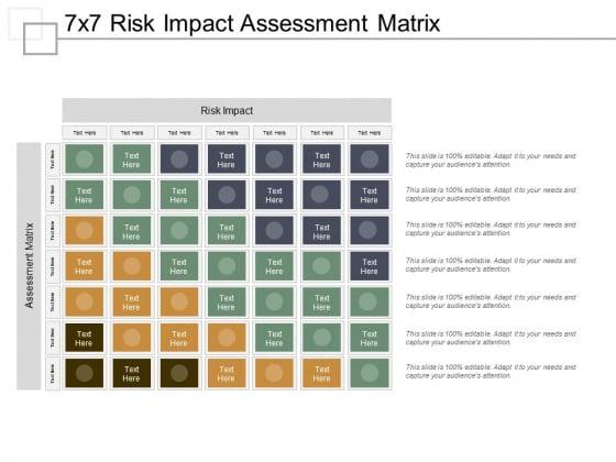 7X7 Risk Impact Assessment Matrix Ppt PowerPoint Presentation Styles Visual Aids
