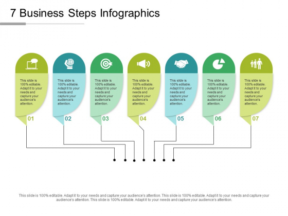 7 Business Steps Infographics Ppt PowerPoint Presentation Gallery Tips