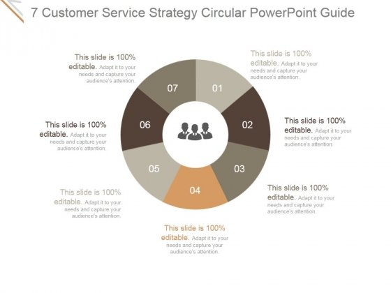 7 Customer Service Strategy Circular Ppt PowerPoint Presentation Rules