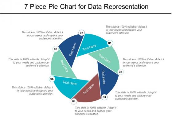 7 Piece Pie Chart For Data Representation Ppt PowerPoint Presentation Portfolio Graphics
