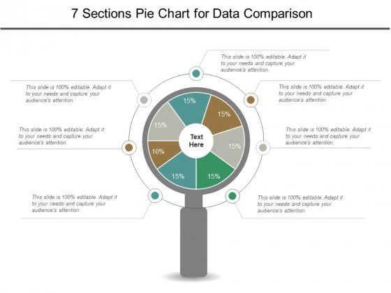 7 Sections Pie Chart For Data Comparison Ppt PowerPoint Presentation File Graphics Template