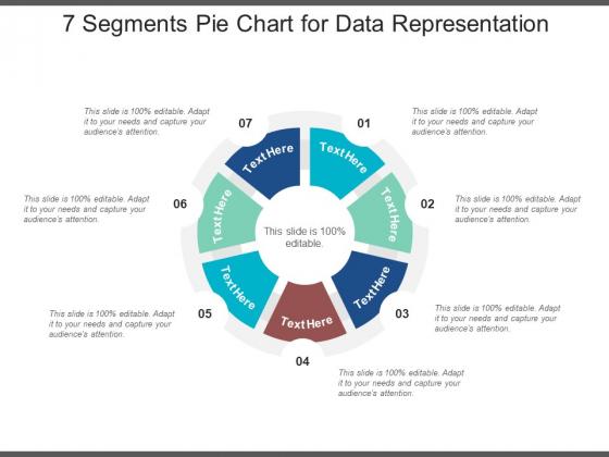 7 Segments Pie Chart For Data Representation Ppt PowerPoint Presentation Styles Summary