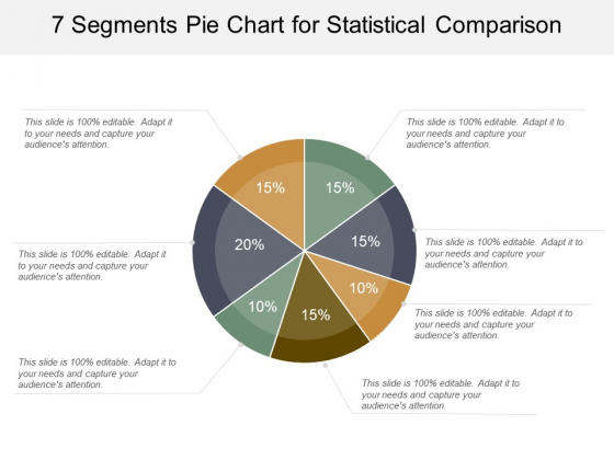 7 Segments Pie Chart For Statistical Comparison Ppt PowerPoint Presentation Gallery Visual Aids
