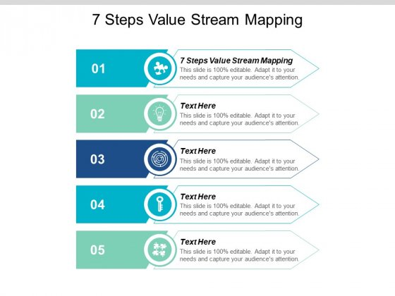 7 Steps Value Stream Mapping Ppt PowerPoint Presentation Layouts Graphic Tips Cpb