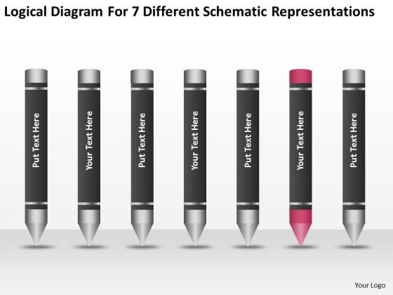 7 Different Schematic Representations Business Plan Consultant PowerPoint Templates
