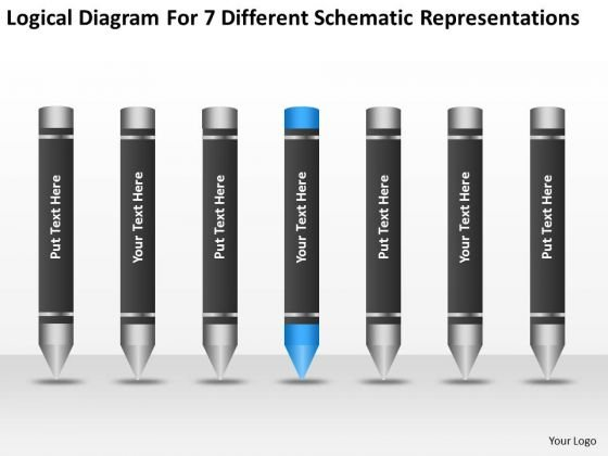 7 Different Schematic Representations Ppt Small Business Plan PowerPoint Templates