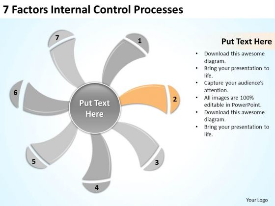 7 factors internal control processes business plan examples powerpoint templates powerpoint templates