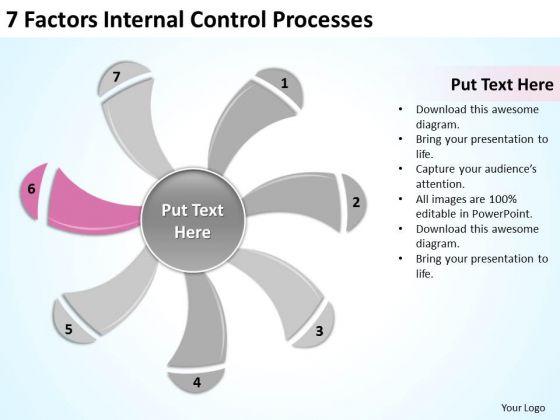 7 Factors Internal Control Processes Business Plan Writers PowerPoint Slides