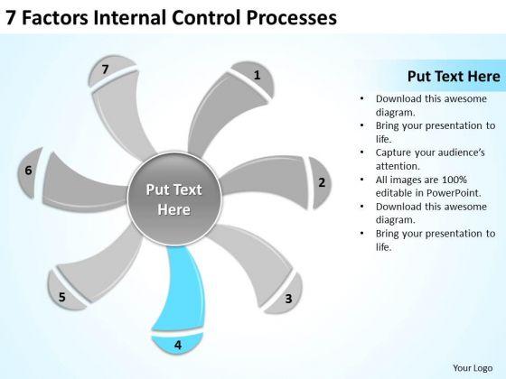 7 Factors Internal Control Processes Ppt Business Plan Tools PowerPoint Templates