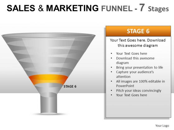 7 Stage Conversion Rate Funnel PowerPoint Slides And Ppt Diagram Templates