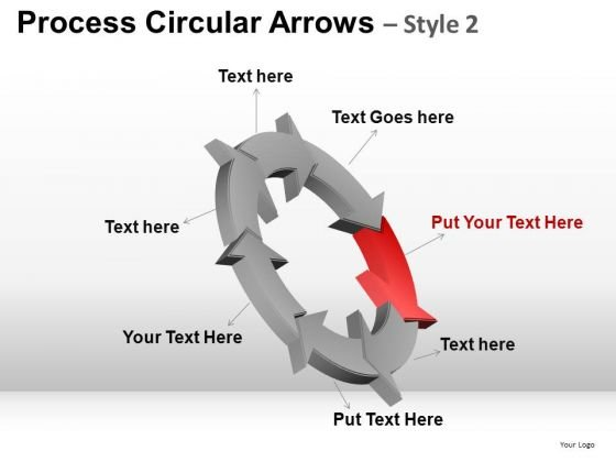 7 Stage Process Circular Arrows PowerPoint Templates
