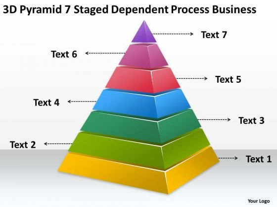 7 Staged Dependent Process Business Ppt Opening Plan PowerPoint Templates