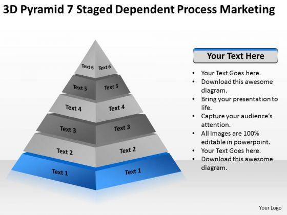 7 staged dependent process marketing ppt sample business development