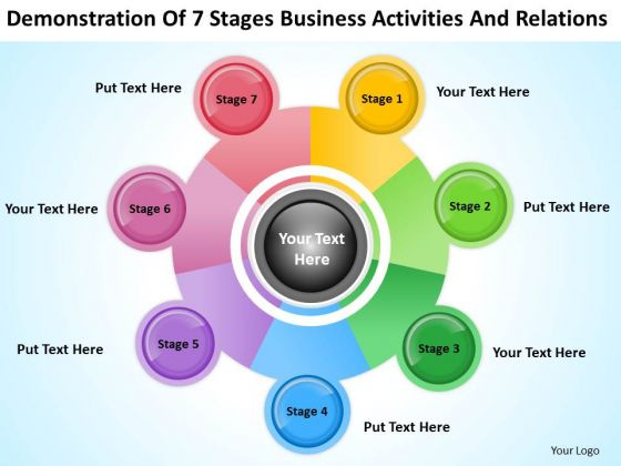 7 Stages Business Activities And Relations Ppt Plans Writers PowerPoint Slides