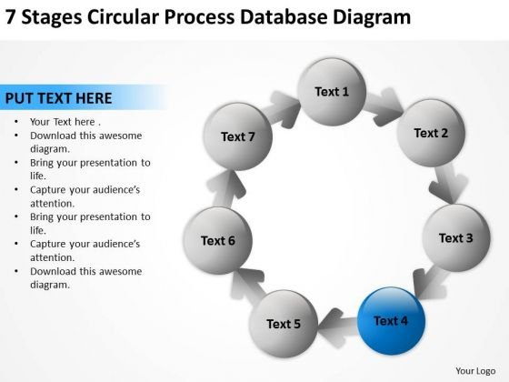 Stages Circular Process Database Diagram Home Care Business Plan - Home care business plan template
