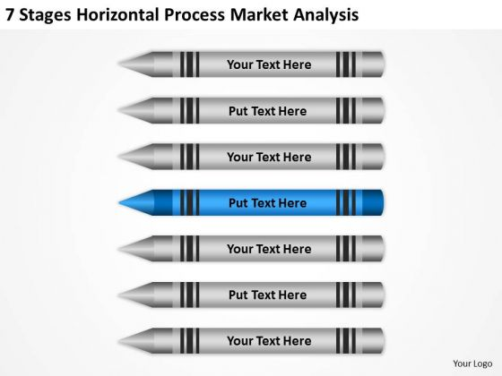 7 Stages Horizontal Process Market Analysis Ppt Business Plan PowerPoint Templates