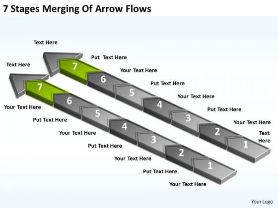 Stages Merging Of Arrow Flows Ppt Hotel Business Plan Example