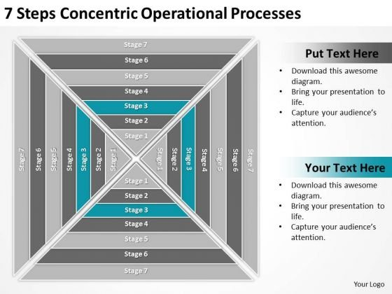 7 Steps Concentric Operational Processes Ppt Business Plan PowerPoint Slides