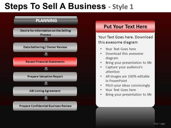 7 Steps To Sell A Business PowerPoint Slides And Ppt Diagram Templates