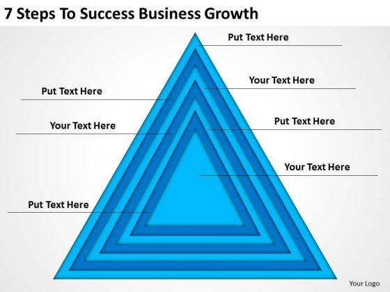 7 Steps To Success Business Growth Ppt Creating Plan Template PowerPoint Templates
