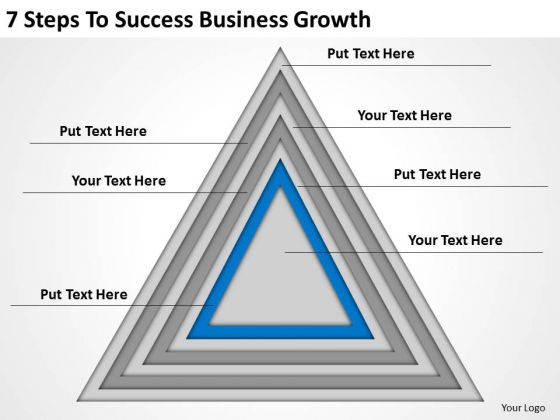 7 Steps To Success Business Growth Ppt Website Plan PowerPoint Templates