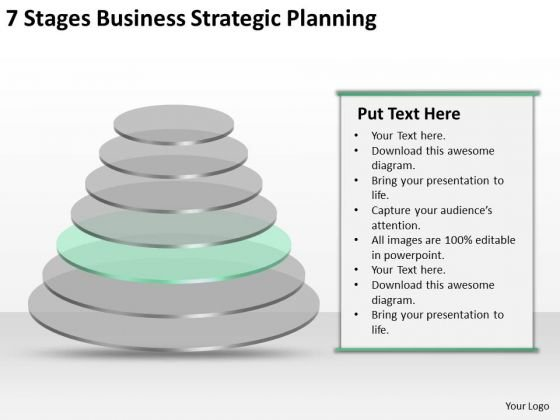 7 Stgaes Business Strategic Planning Bar Template PowerPoint Slides