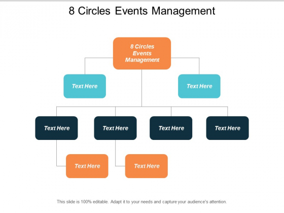 8 Circles Events Management Ppt PowerPoint Presentation Gallery Model Cpb