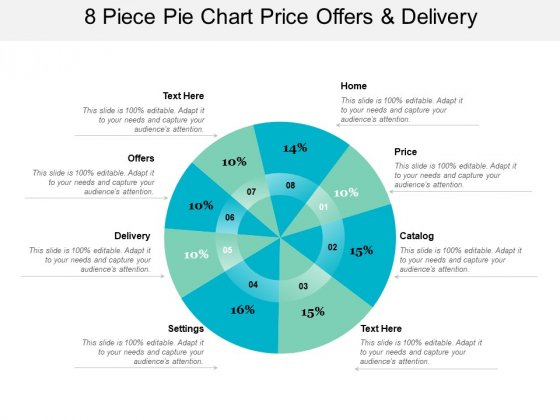 8 Piece Pie Chart Price Offers And Delivery Ppt Powerpoint