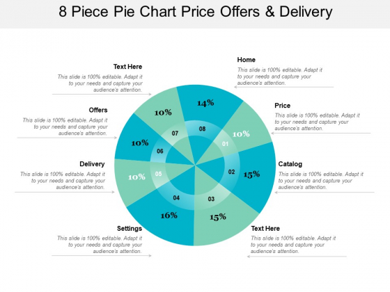 8 Piece Pie Chart Price Offers And Delivery Ppt PowerPoint Presentation Layouts Skills