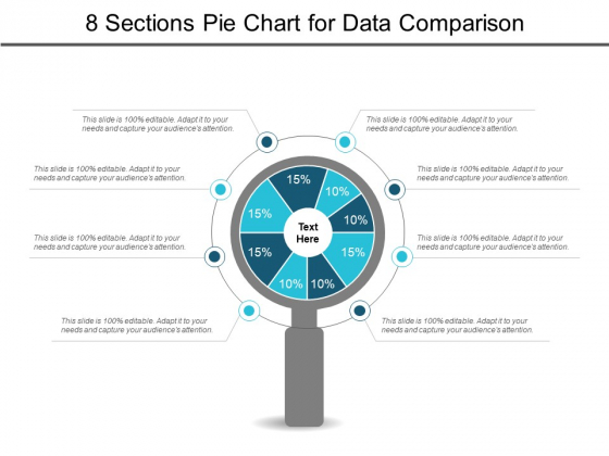 8 Sections Pie Chart For Data Comparison Ppt PowerPoint Presentation Show Slideshow