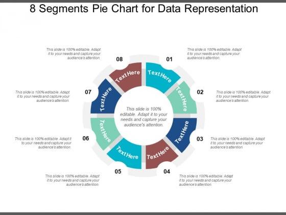 8 Segments Pie Chart For Data Representation Ppt PowerPoint Presentation Infographics Design Templates