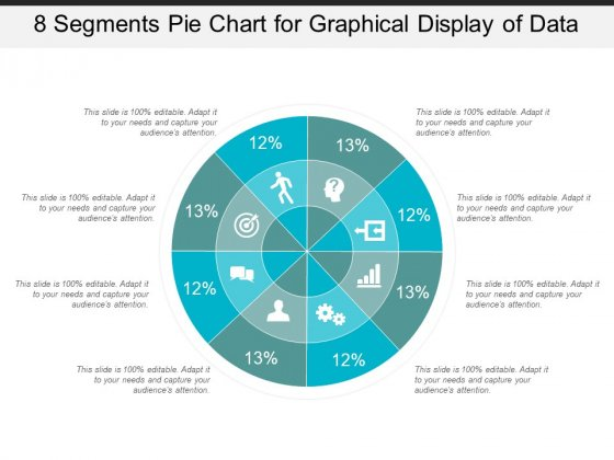 8 Segments Pie Chart For Graphical Display Of Data Ppt PowerPoint Presentation Infographic Template Templates