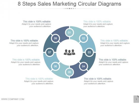 8 Steps Sales Marketing Circular Diagrams Ppt PowerPoint Presentation Gallery