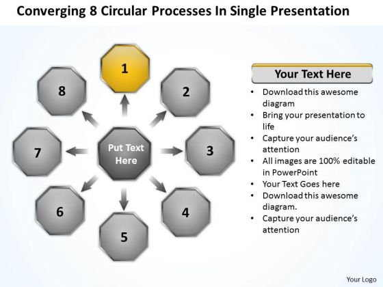8 Circular Processes In Single Presentation PowerPoint Slides