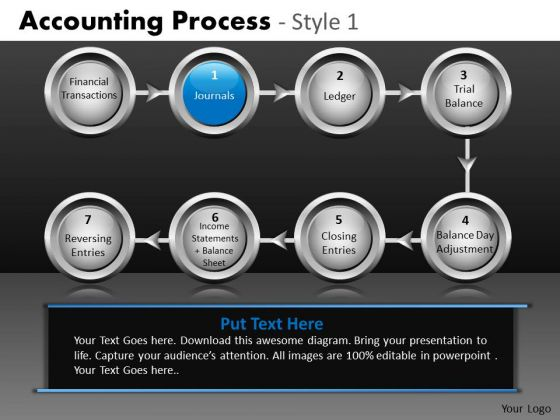 8 Stage Linear Process Flow PowerPoint Slides Ppt Templates