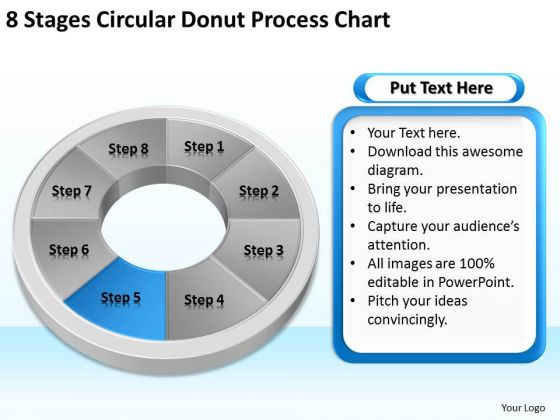 8 Stages Circular Donut Process Chart Business Succession Planning