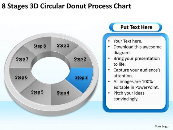 8 Stages Circular Donut Process Chart Sample Business Plan Templates PowerPoint Slides