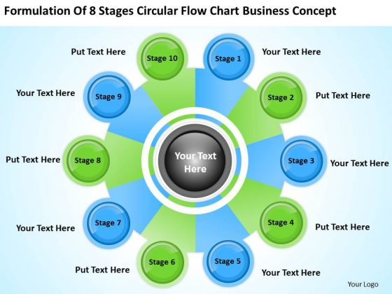 8 Stages Circular Flow Chart Business Concept Ppt Marketing Plan Template PowerPoint Templates