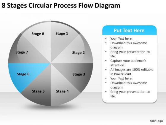 8 Stages Circular Process Flow Diagram Business Plan PowerPoint Slides
