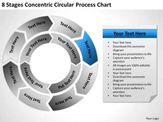 8 Stages Concentric Circular Process Chart Ppt Formulate Business Plan PowerPoint Templates