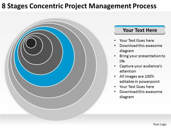 8_stages_concentric_project_management_process_sales_plan_powerpoint_slides_1