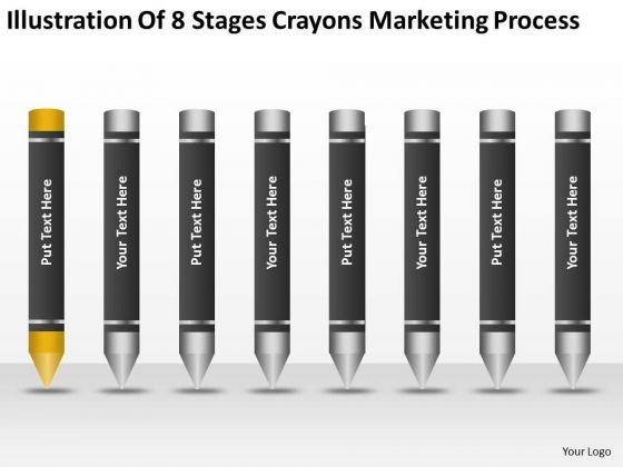 8 Stages Crayons Marketing Process Ppt 1 How Make Business Plan PowerPoint Templates