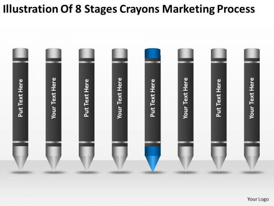 8 Stages Crayons Marketing Process Ppt 5 Best Business Plan Software PowerPoint Slides