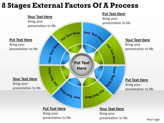 8 Stages External Factors Of Process Short Business Plan PowerPoint Templates
