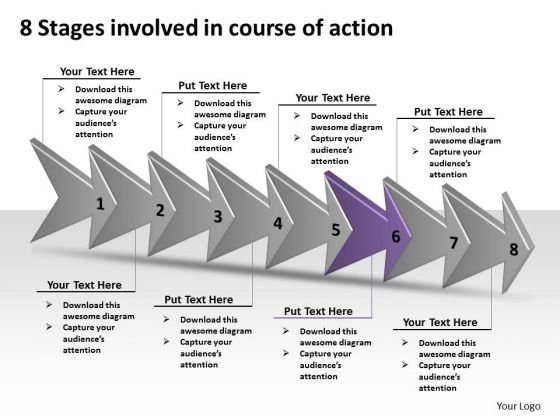 8 Stages Involved Course Of Action Business Technical Drawing PowerPoint Slides