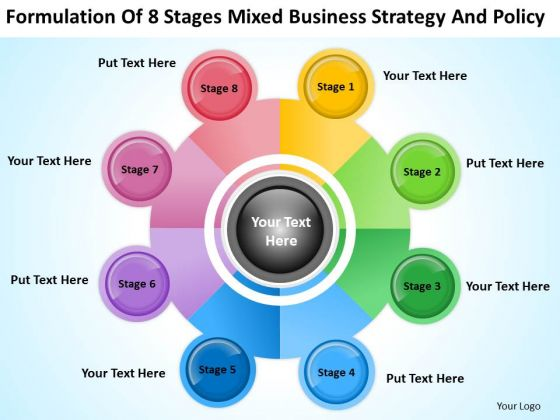 8 Stages Mixed Business Planning Strategy And Policy Ppt Make PowerPoint Slides